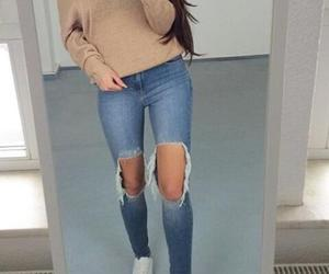 goals, jeans, and ootd image