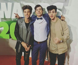 cameron dallas, taylor caniff, and aaron carpenter image