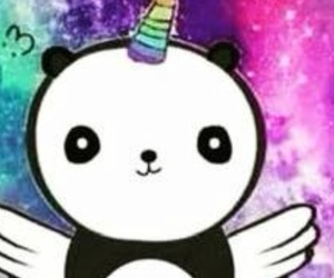 panda, unicorn, and cute image