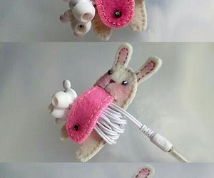 diy, rabbit, and headphones image