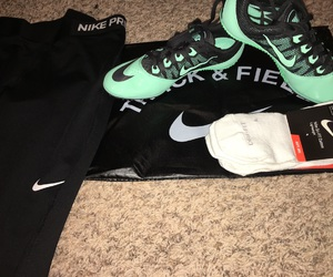 black, nike, and spikes image