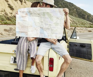 adventure, car, and couple image