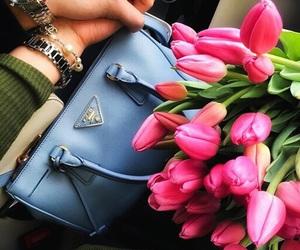 flowers, love, and Prada image