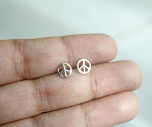 etsy, peace symbol, and peace jewelry image