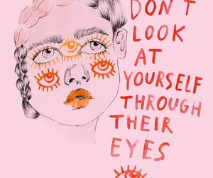 quotes, eyes, and pink image