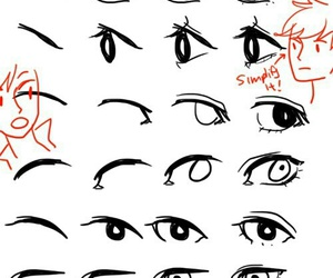 anime, eyes, and tutorial image