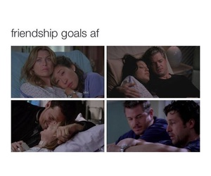 meredith grey, mark sloan, and derek shepherd image