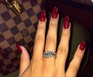 nails, ring, and red image