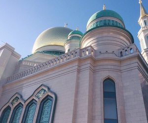 pastel, mosque, and pink image