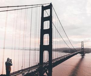 golden gate, photography, and sunrise image