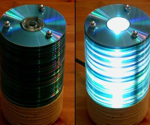 cd, lamp, and light image