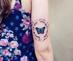 butterfly and tatuagem image