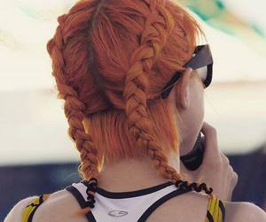 hair, hayley williams, and orange image