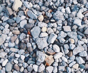 aesthetic, blue, and pebbles image