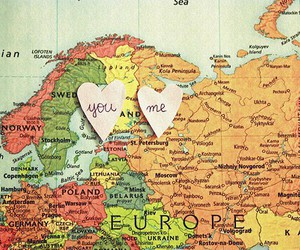 love, map, and europe image
