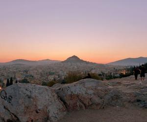 sunset, grunge, and nature image