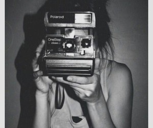 polaroid, camera, and girl image