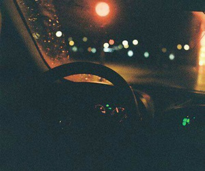 night, car, and light image