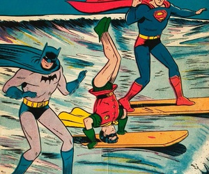 batman, superman, and robin image