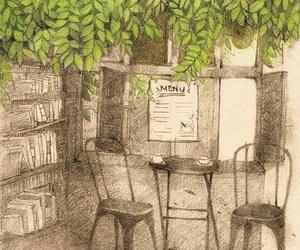 drawing, green, and life image
