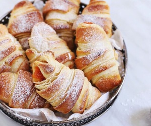 food, croissant, and yummy image