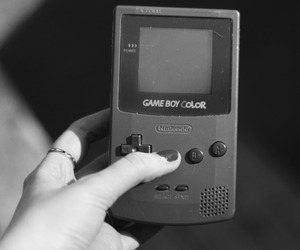 black and white, game, and game boy image