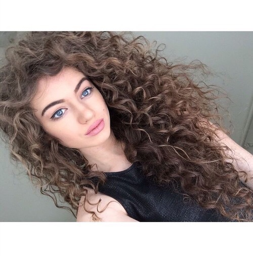 A White Girl With Curly Hair All On We Heart It