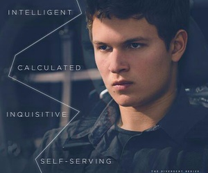 fourtris, ansel elgort, and caleb prior image