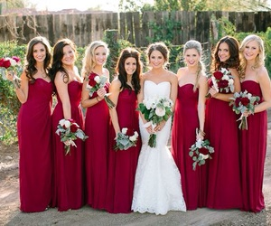bride, bridesmaid, and marriage image