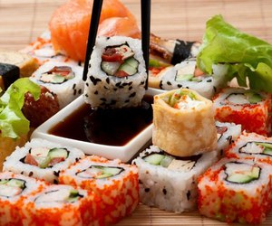 fish, food, and sushi image