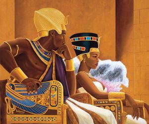 Queen, king, and egypt image