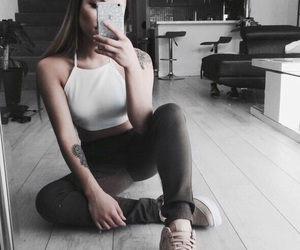 girl, tattoo, and clothes image