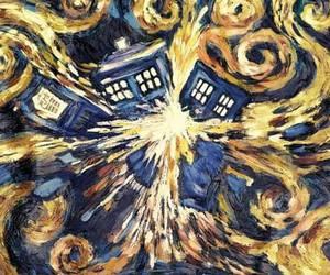 doctor who, tardis, and van gogh image