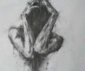 art, black, and insane image
