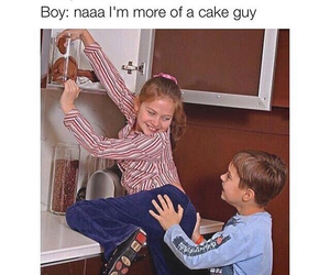 funny, lol, and cake image