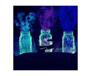 Darkness, glow, and jars image