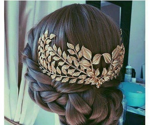 gold, hairstyle, and braid image