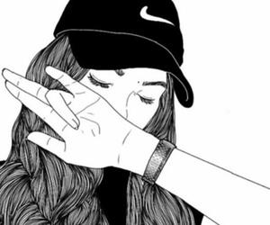 nike, outline, and tumblr image