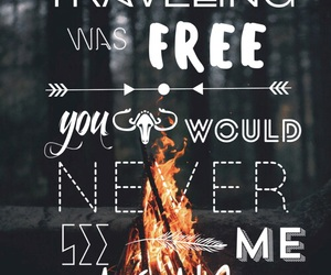 boho, fire, and quote image