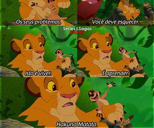 timão e pumba, hakuna matata, and rei leão image