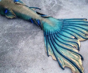 blue, gift, and mermaid image