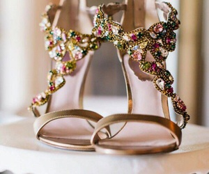 fashion, heels, and diamonds image