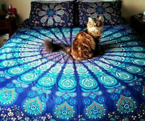 bed, sleep, and cute image