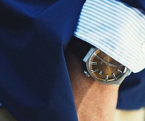 blue, chic, and watch image