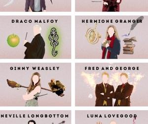 harry potter, luna lovegood, and draco malfoy image