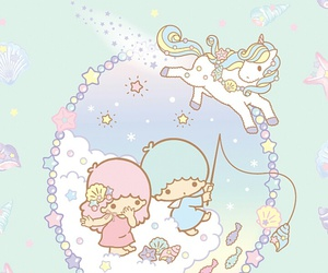 sanrio, little twin stars, and pastel image