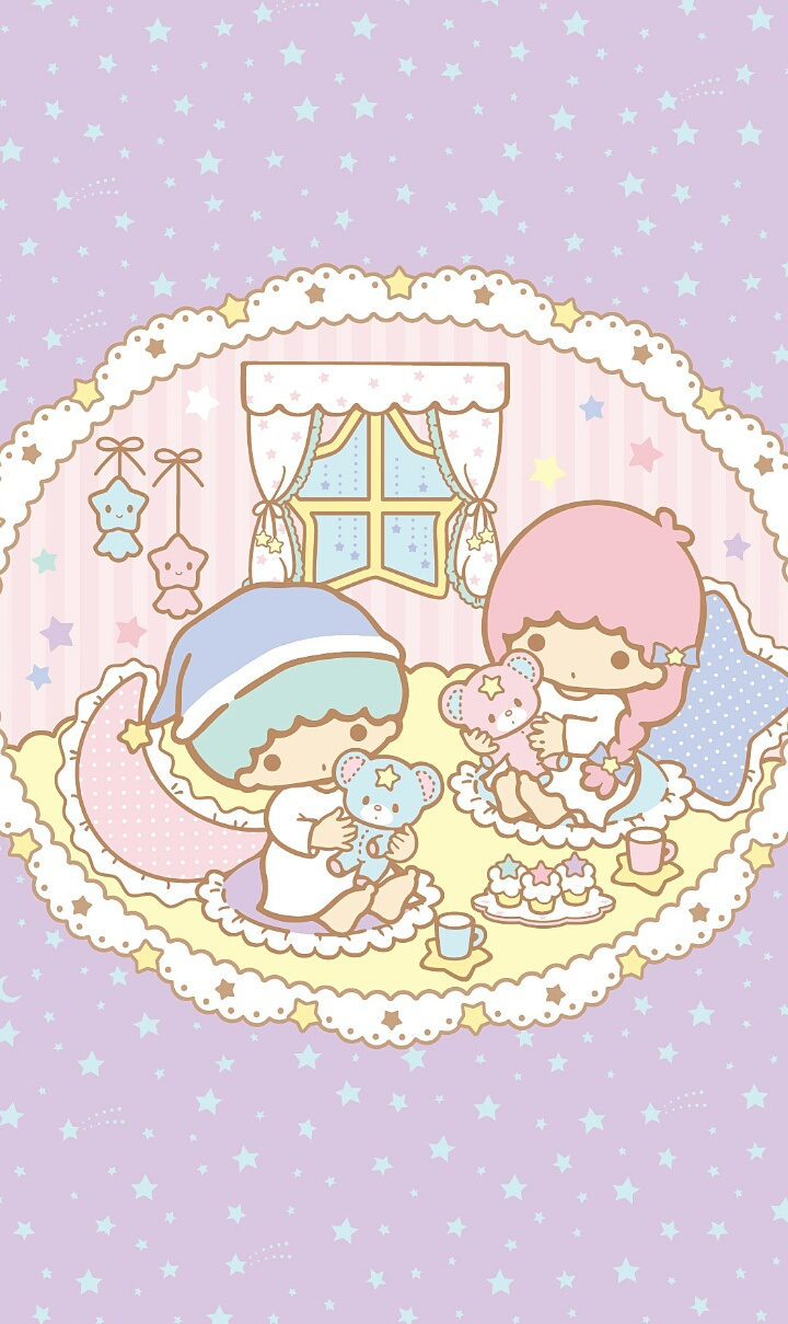 Art Baby Background Bears Beautiful Beauty Cartoon Couple Cute Art Cute Baby Drawing Home Illustration Kawaii Pastel Purple Sanrio Stars Wallpapers We Heart It Little Twin Stars Kawaii Food Beautiful Art Purple