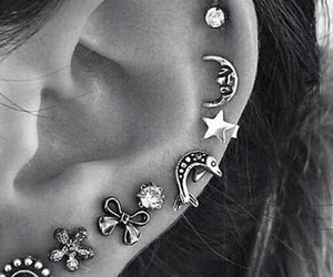 earrings, ear, and jewellery image