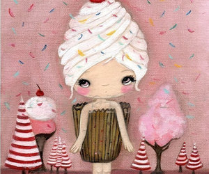 candy, cupcake, and doll image