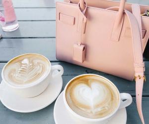 coffee, pink, and bag image